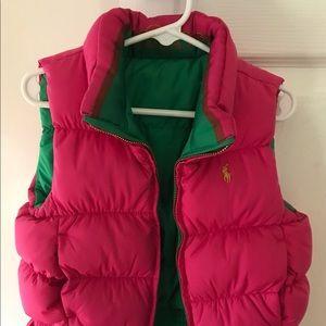 Ralph Lauren Reversible Down Puffer Vest size 5